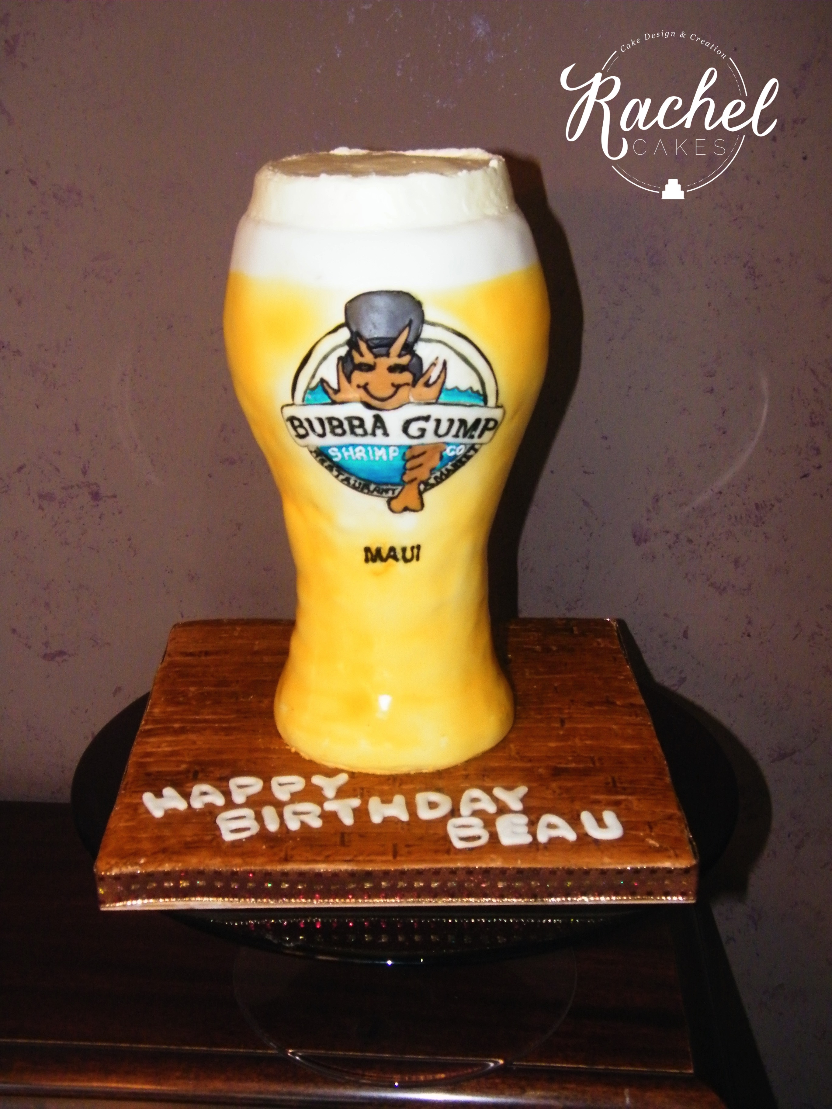 Beer Glass Cake Design : Beer Glass Cake   Watermarked   Rachel~Cakes