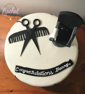 Aerial of Hairdresser Cake
