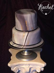 Marble cake on top of column